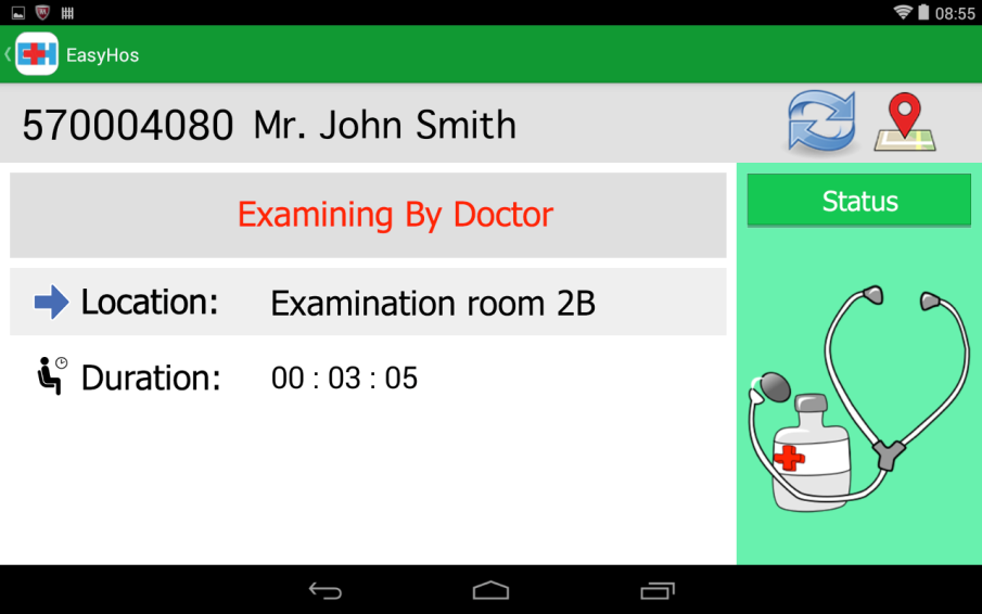 JMU - A Mobile-Based Patient-Centric Passive System for Guiding