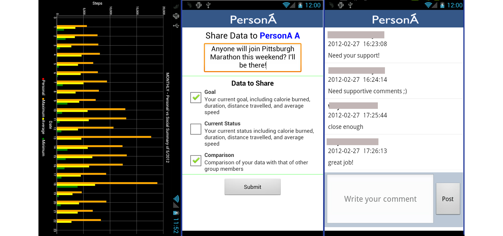 JMU - A Persuasive and Social mHealth Application for